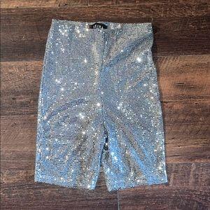 NWT AKIRA Sequin Biker Shorts